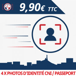 Photos d'identité Passeport / CNI / Titre de séjour